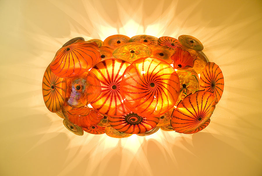 Blown Glass Light