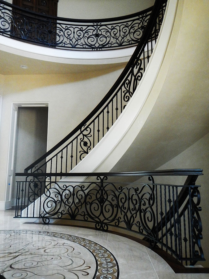 Custom Decorative Iron Railing