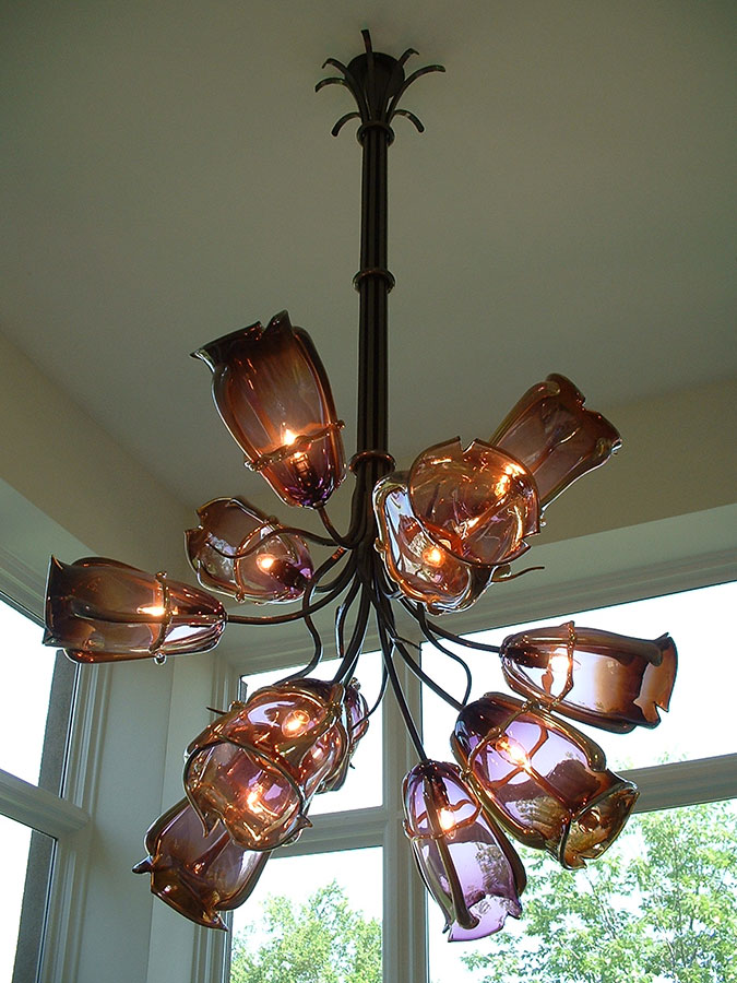 Iron Glass Chandelier